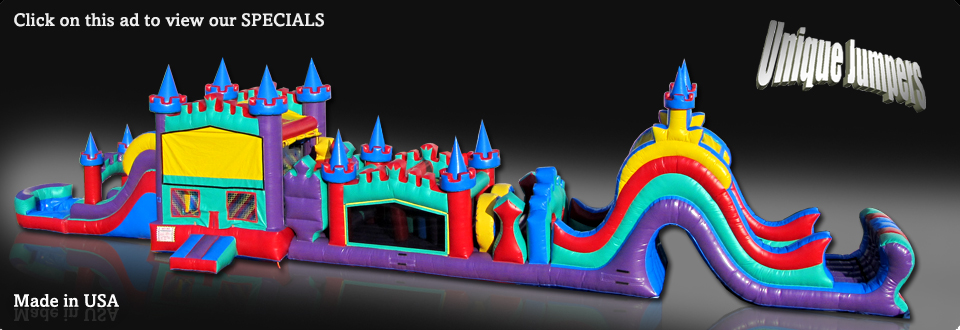 84 ft Obstacle Course for Sale,inflatable combos,castle moonwalks