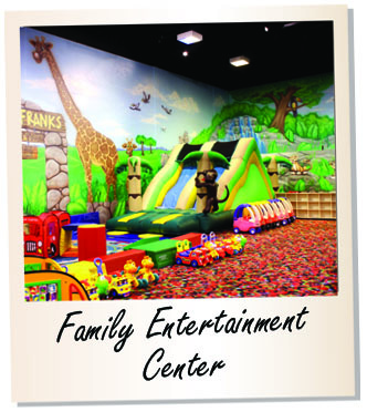 Family entertainment center, indoor facility, fun center, inflatable indoor games