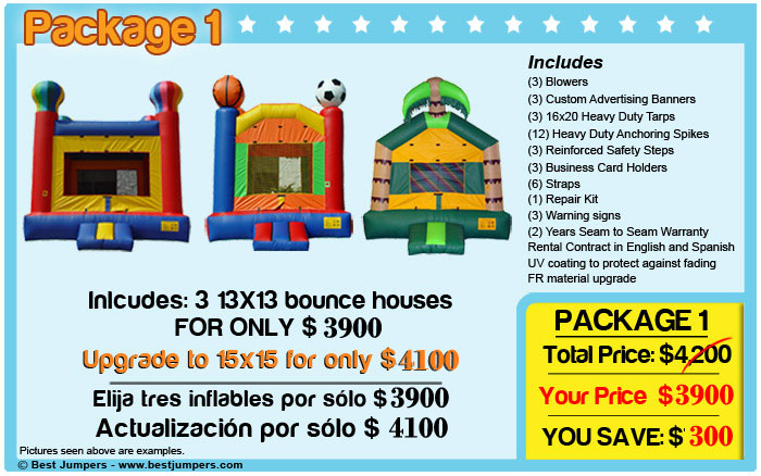 Inflatable bounce houses for sale