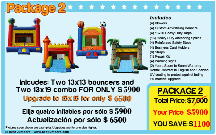 inflatable castle combos and jump houses for sale