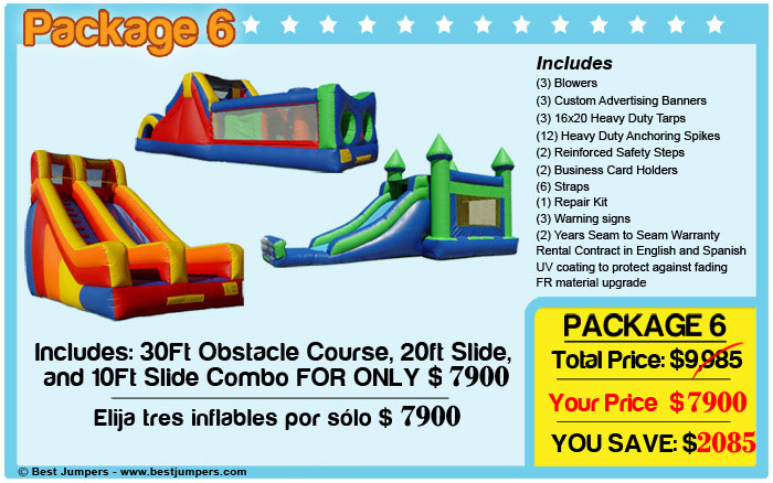 Obstacle course-castle combo-slide