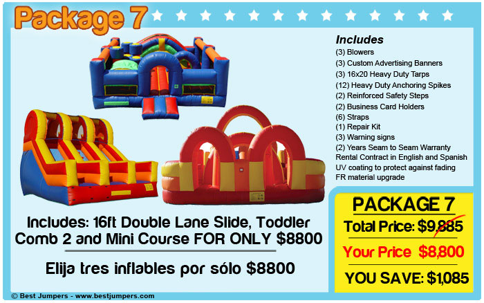 Dual lane slide and obstacle courses for sale