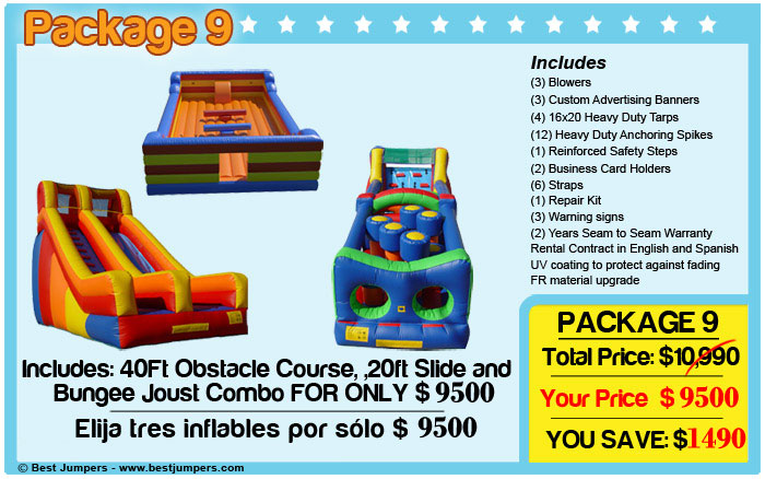 Jumping Castle Combo - Bouncers For Sale - Buy Inflatables - Bouncy Castle combo