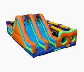 obstacle course, bungee run, inflatable games, 2 person joust, sale, buy