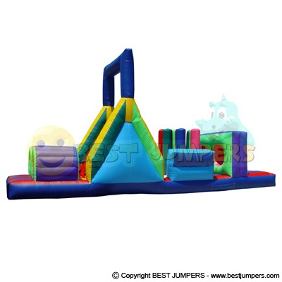 Jumping Houses - Inflatable Obstacle Course For Sale - Inflatables Slide - Moonwalk Combo