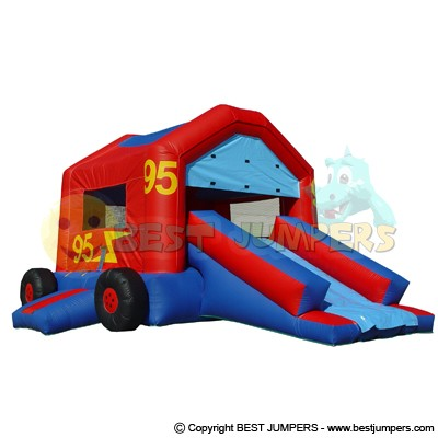 Party Jumper - Residential Bounce Houses - Inflatale Jumphouse - Race Car Jumpers