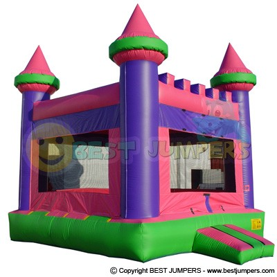 Princess Bounce House - Pink Inflatables - Castle Bounce House - Inflatable Jumpers For Sale