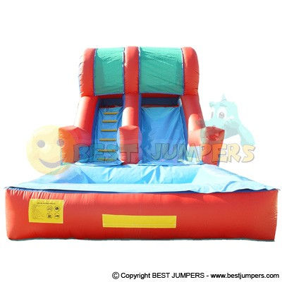 16 Ft Slide With Pool - Watergames - Water Jump House - Inflatable Slide