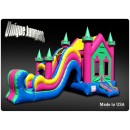 Jumpers - Moonwalk With Slide - castle Jumpers - Purchase Bounce house combo